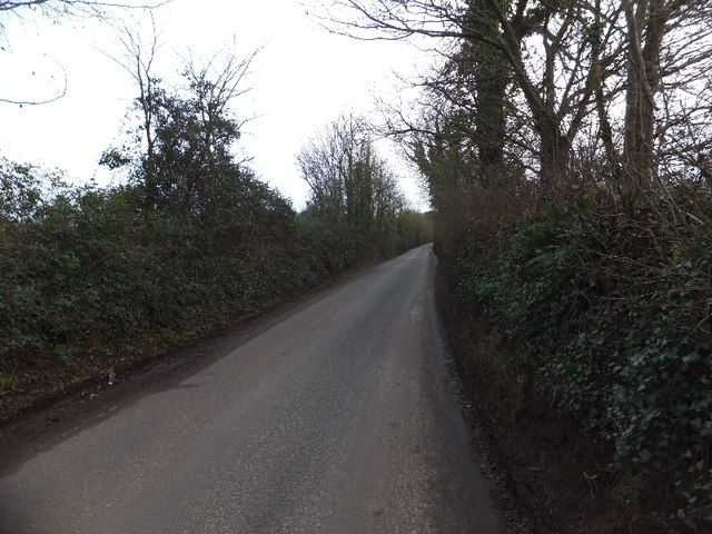 Looking towards Cullompton along Little Toms