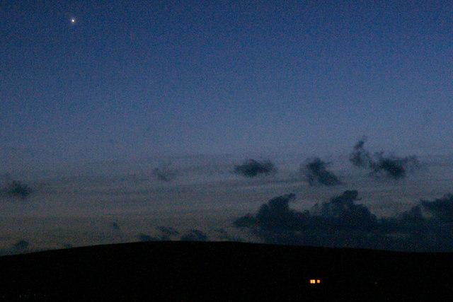 Venus over Baltasound at dusk