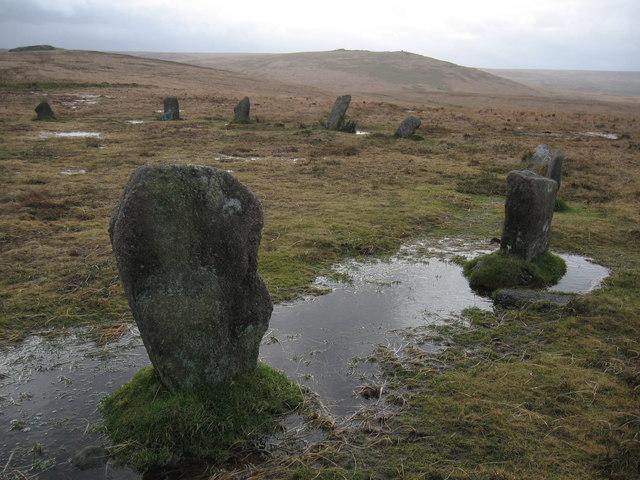 Stone circle, White Moor Down