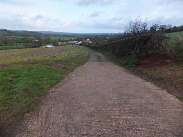 Farm road to Crankland Farm