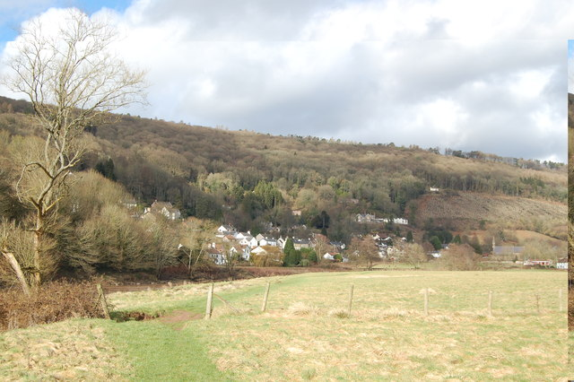 Llandogo from the Wye Valley Path