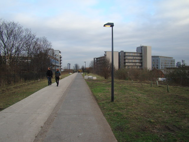 Towerblocks in Stratford, viewed from the Greenway