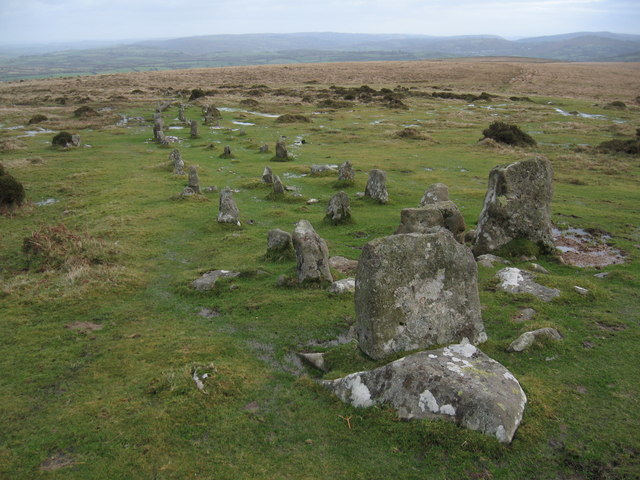 Stone Row, Cosdon Hill