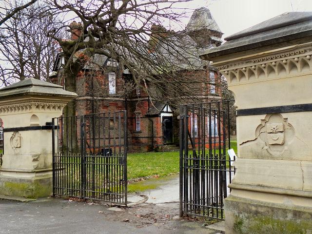 Alexandra Park, Claremont Road Gate and Chorlton Lodge