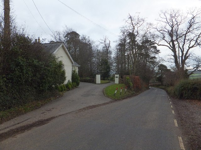 Entrance gateway and lodge for Warnicombe House