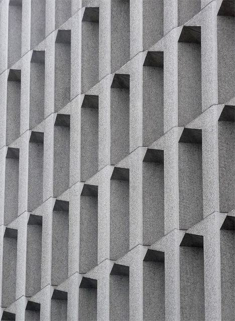 Detail of Hexagon Tower, Delaunays Road, Manchester