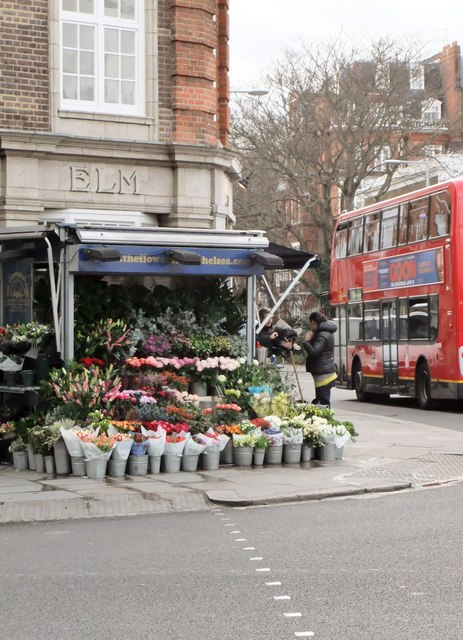 Flower stall, Old Church Street SW3