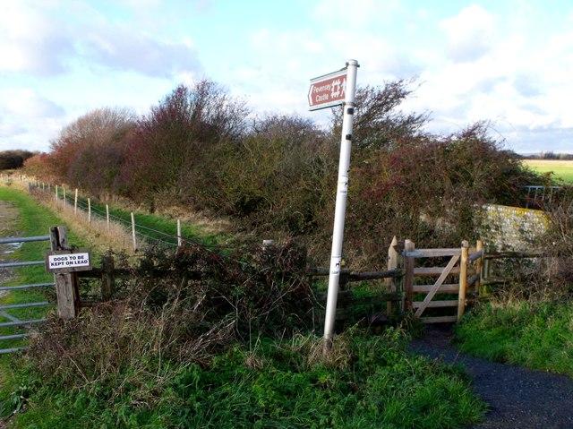 Public footpath to Pevensey Castle