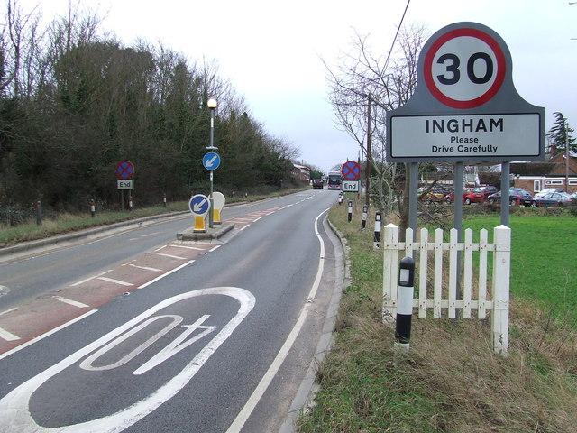 Entering Ingham