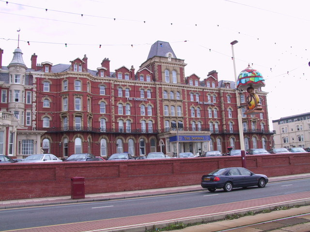The Imperial Hotel in Blackpool view from the seafront