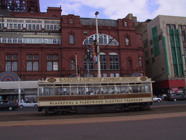 Blackpool Centenary Tram 1898-1998 taken in 2001 near Tower