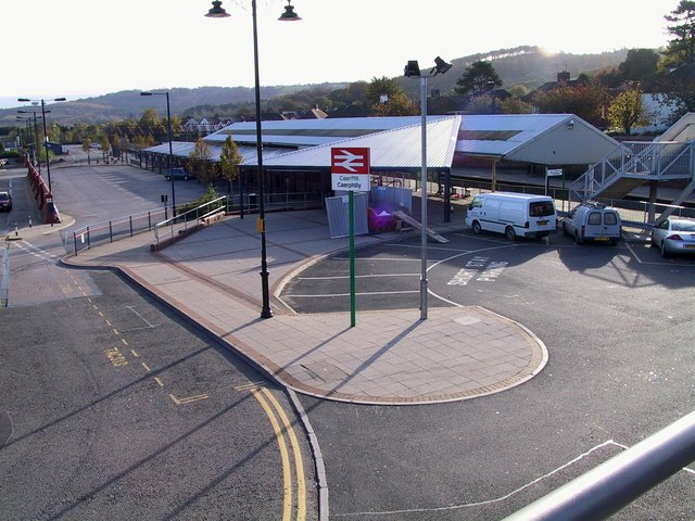 Caerphilly Bus and train Station taken in Nov 2001
