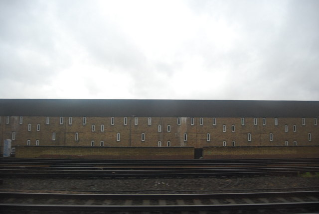 Flats by the railway line, Bermondsey