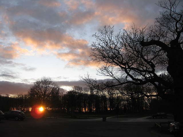 Setting sun, January, 2012