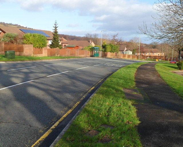 Henllys Way east of Ty Canol Way, Cwmbran
