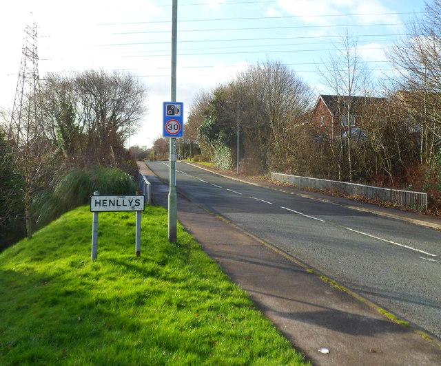 Henllys Way reaches Henllys, Cwmbran