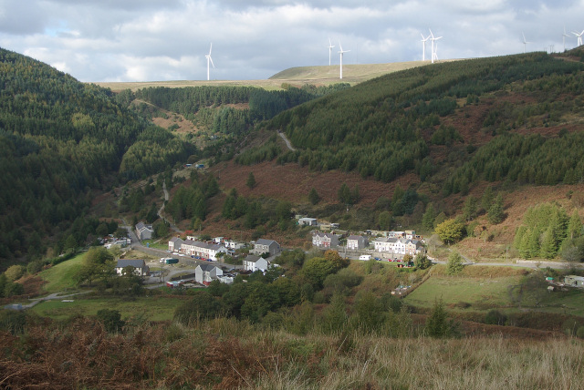 A view across the Afan Valley at Abercregan
