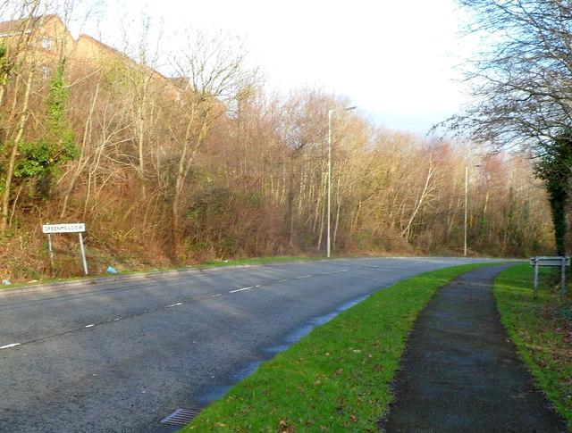 Greenmeadow boundary, Cwmbran
