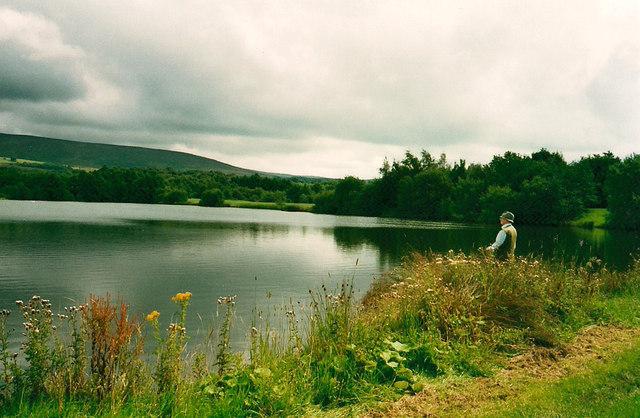 Lake and angler, Wyeside Fisheries