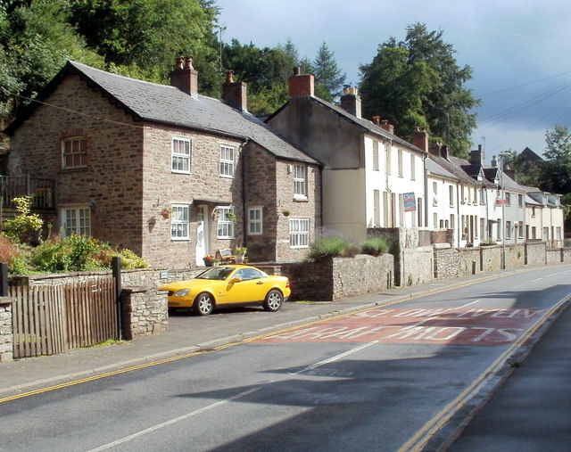 Houses near the northern end of The Struet, Brecon