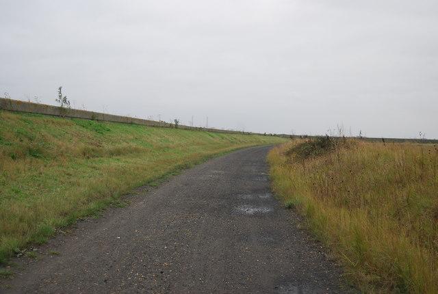Footpath below the embankment