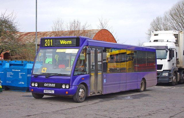Bennetts Travel (Cranberry) Limited Optare bus in Wem