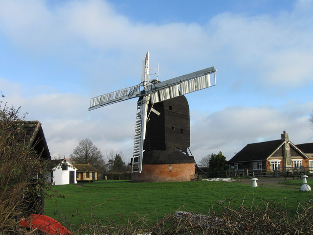 Outwood Windmill, with some storm damage