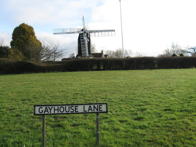 Gayhouse Lane and Outwood Windmill