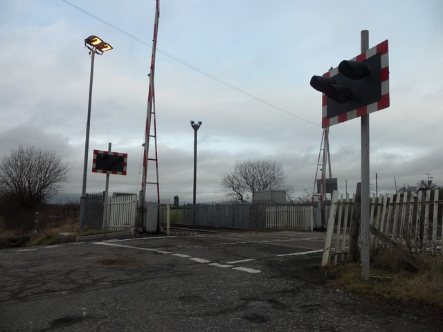 Level crossing on Gartgill Road