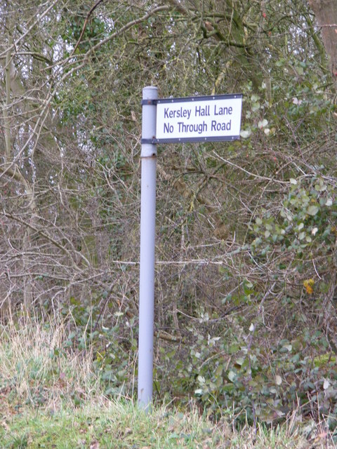 Kersley Hall Lane signpost