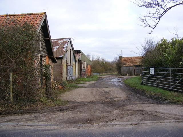 The entrance to Grove Farm, Stradbroke