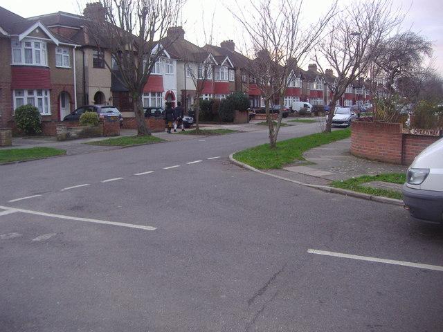 Corner of The Greenway and Broad Oak Avenue