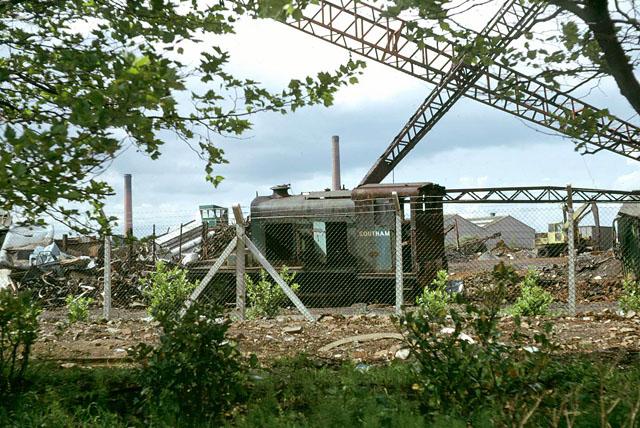 'Southam' in scrap yard, 1976