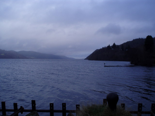 Loch Ness , looking NE from Inverfarigaig Pier