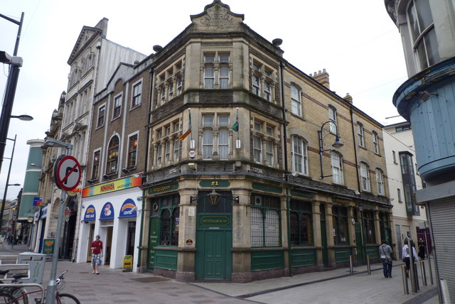 "The Cambrian Hotel in Cardiff - now known as ""Kitty Flynn's"""