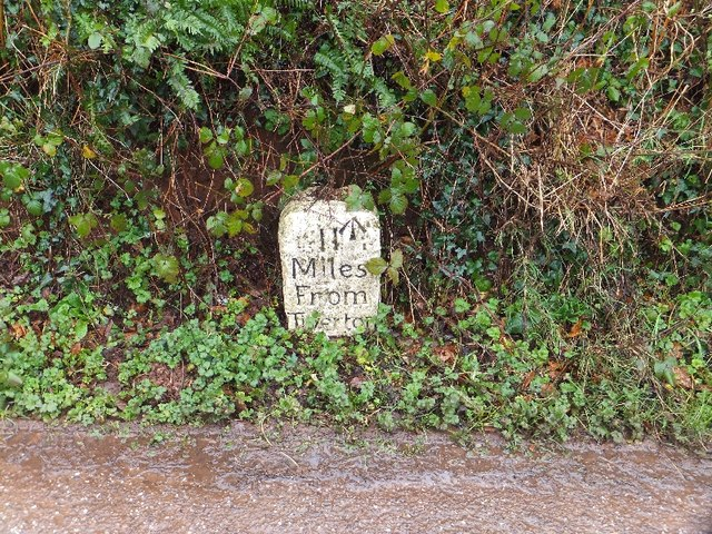 Milestone on Exeter Hill