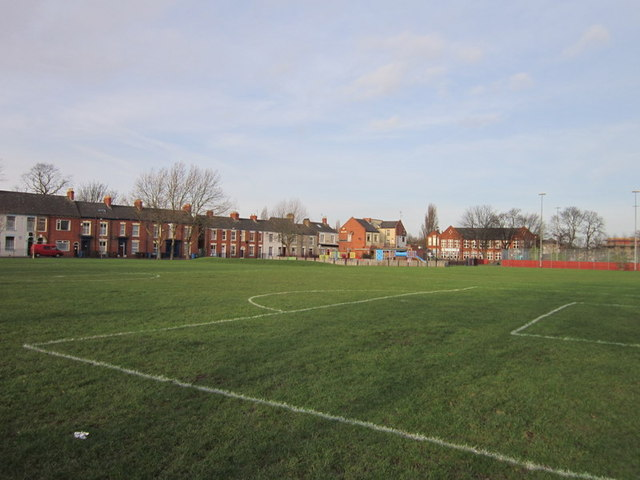 A playing field off Peel Street