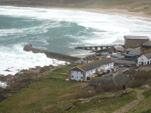 Sennen Cove harbour and lifeboat station