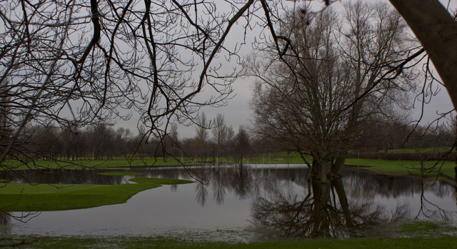 Flooding at The William Wroe Golf Course