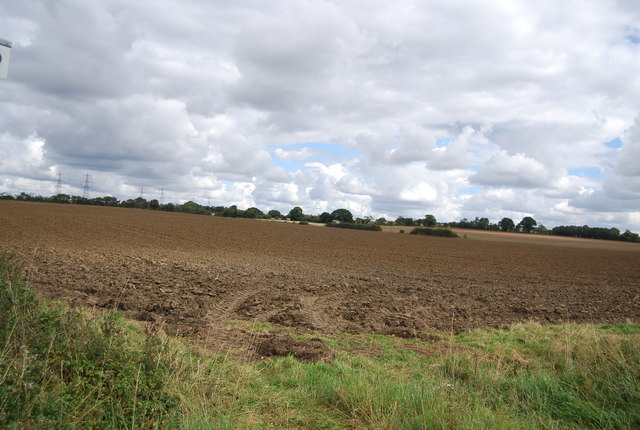 Ploughed field by Lower Rd