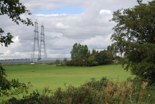 Pylons near Hill Farm