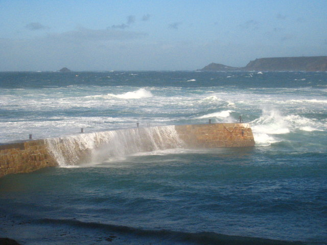 The breakwater at Sennen Cove