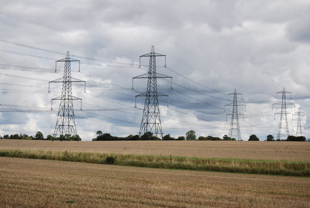 Pylons across the countryside