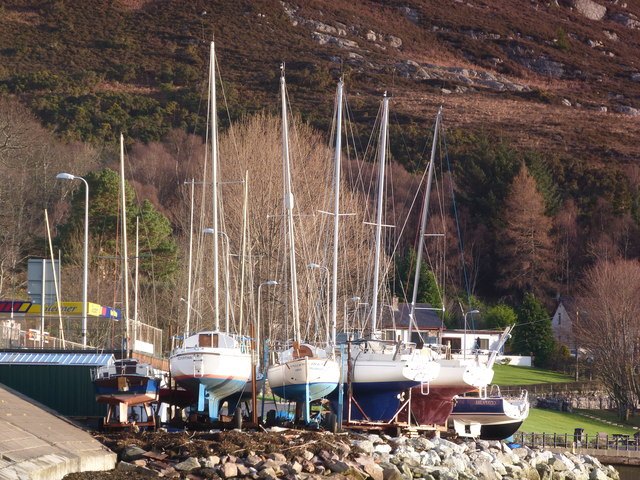 Yachts, dry for the Winter at Ullapool