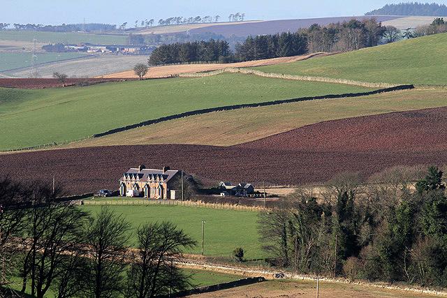 Mixed farmland at Thirlestane
