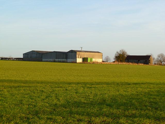 Farmland and farm buildings, Moulton