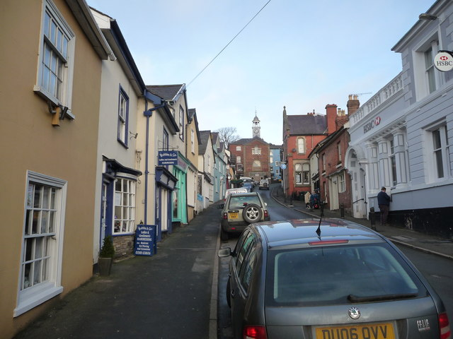 Part of Bishop's Castle High Street