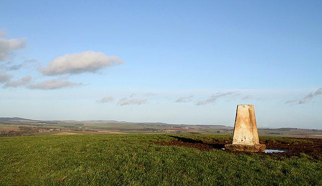 The triangulation pillar on Fans Hill
