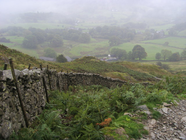 Looking down to Dale Head farm