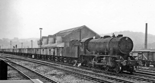 Westbound coal train at Mirfield